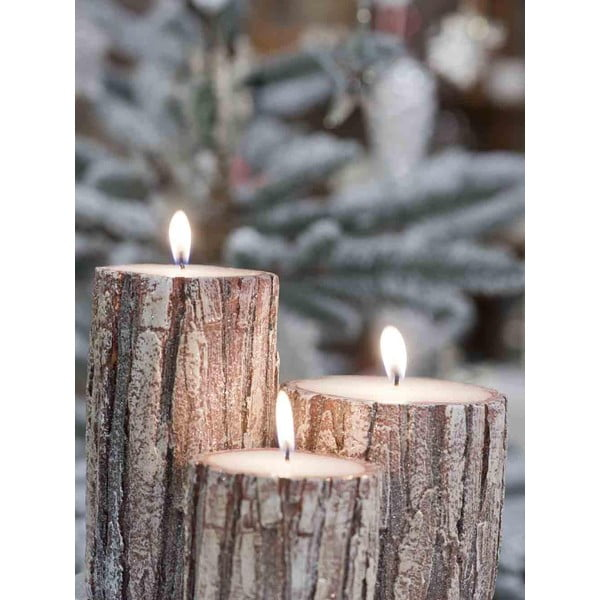 Sada 3 sviečok Candle Oak