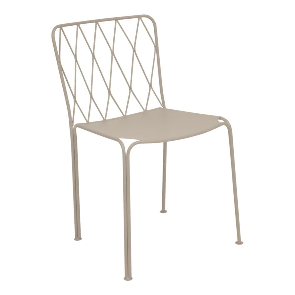 Béžová záhradná stolička Fermob Kintbury