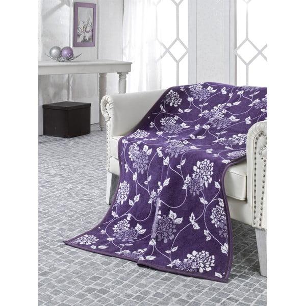 Deka Floral Purple, 180 x 220 cm
