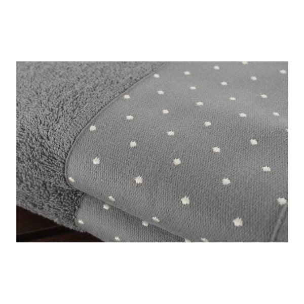 Sada 2 sivých uterákov Patricia Grey, 50 x 90 cm