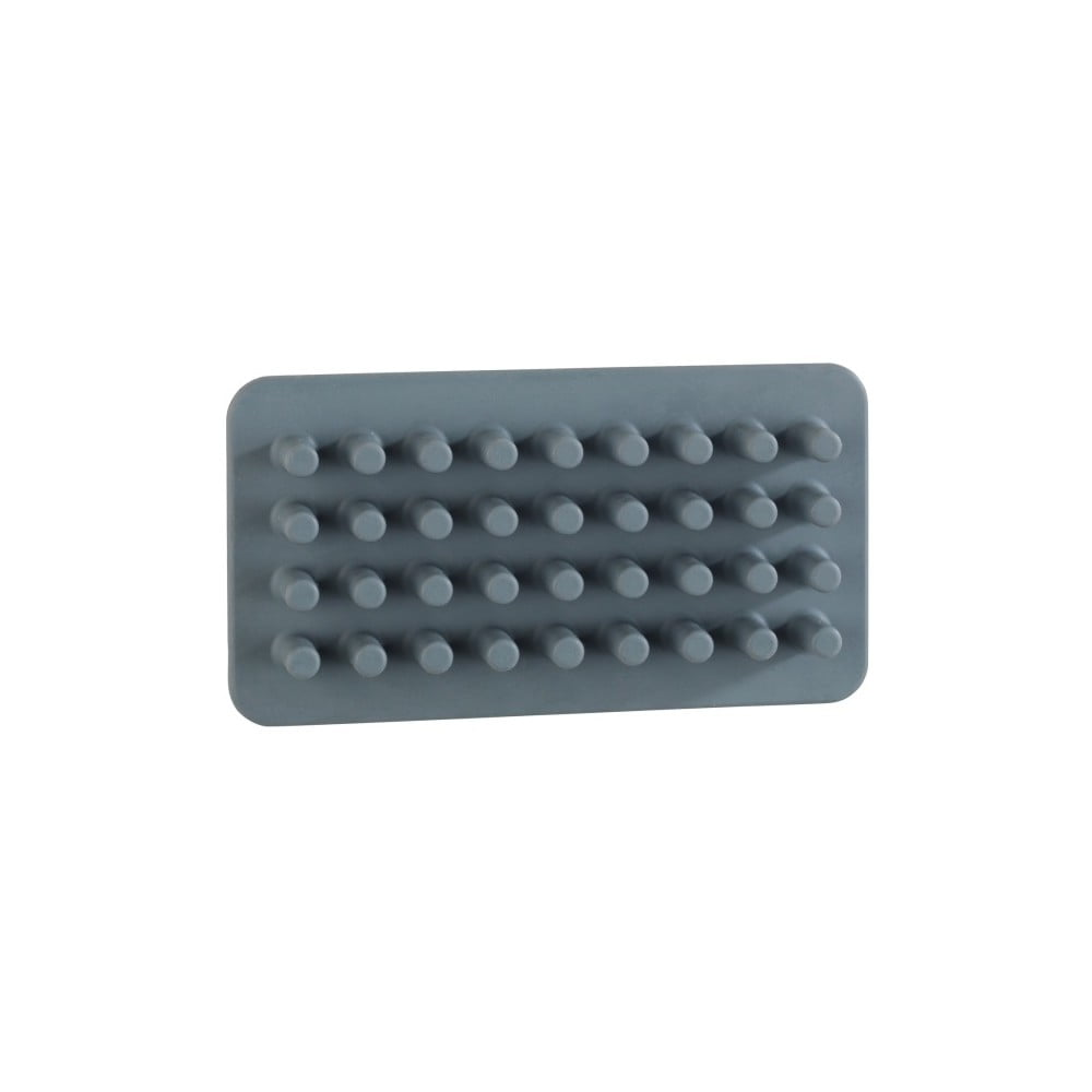 Sivý silikónový nástenný držiak na ceruzky/štetce/kefky Wenko Ampio
