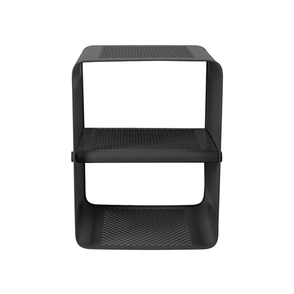 Čierna nástenná 2-poschodová skrinka na topánky Tica copenhagen Perforate