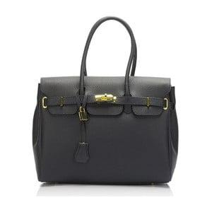 Modrá kožená kabelka Giulia Massari Concepta