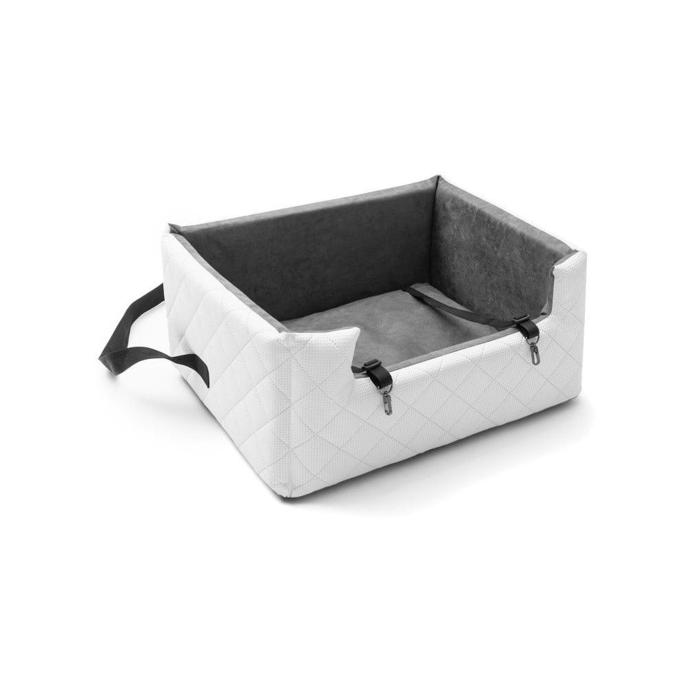 Biela prepravná taška pre psa do auta Marendog Travel, 50 × 57 × 25 cm