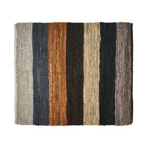 Kožený koberec Södahl Rebel, 120 x 120 cm