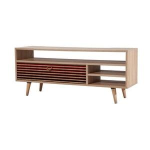 Drevený TV stolík Agapis Red
