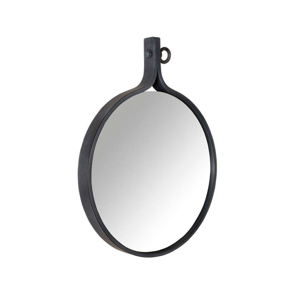 Zrkadlo v čiernom ráme Dutchbone Attractif, šírka 41 cm