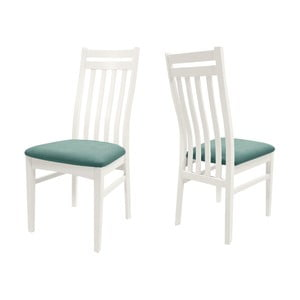 Biela jedálenská stolička s konštrukciou z brezového dreva Canett Geranium