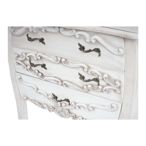 Skrinka s 3 zásuvkami Baroque White Antique
