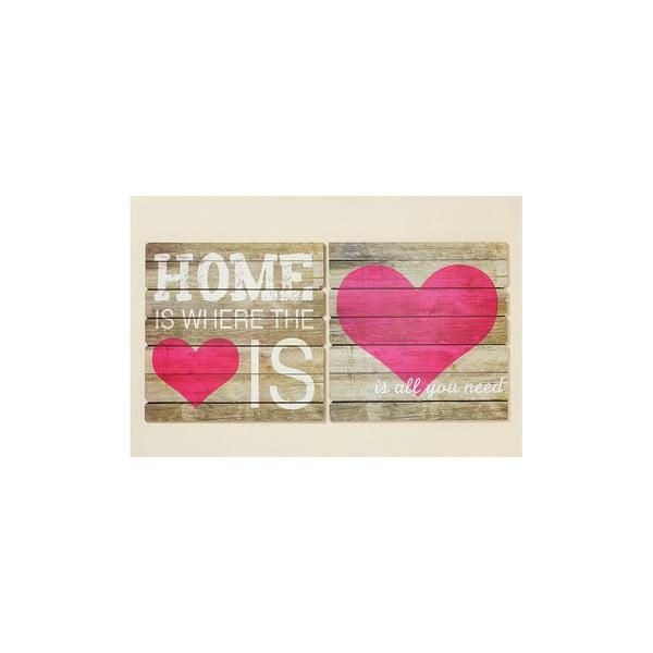 Sada 2 nápisov Home Is