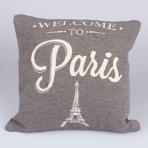 Obliečka na vankúš Paris in Grey, 40x40 cm