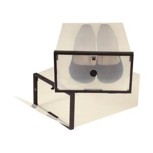 Sada 2 boxov na topánky s čiernym lemom Jocca, 28 x 20,7 cm