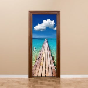 Adhezívna samolepka na dvere Ambiance Welcome to Paradise, 83 x 204 cm