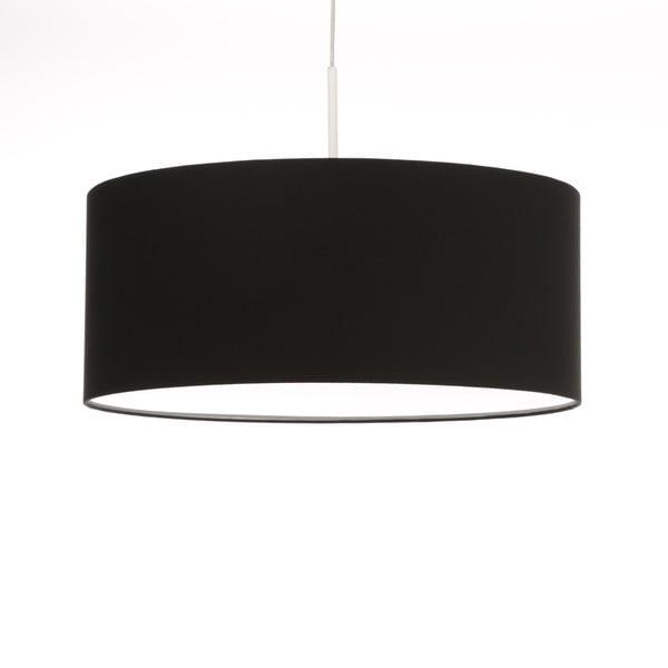 Čierne stropné svetlo Artist, variabilná dĺžka, Ø 60 cm