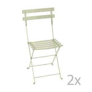 Sada 2 zelenkavých skladacích stoličiek Fermob Bistro