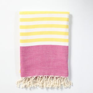 Hammam osuška z ručne tkanej bavlny ZFK Gunnar, 170 x 100 cm