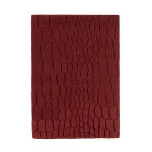 Vlnený koberec Croc Red, 120x170 cm