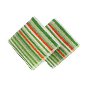Sada 2 zelených uterákov Cizgi Green, 40 x 80 cm