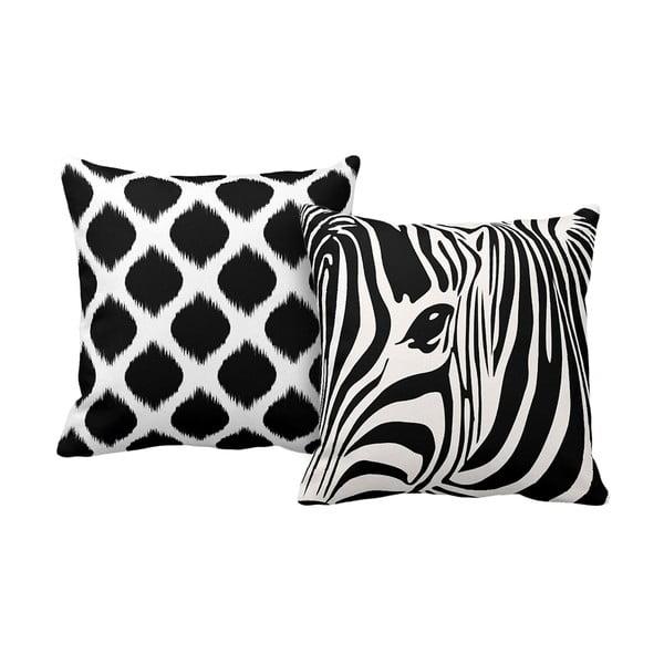 Set 2 vankúšov Zebra, 43x43 cm