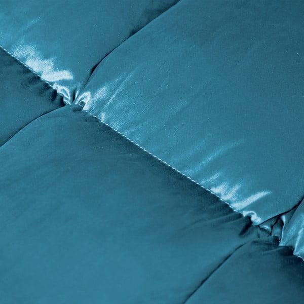 Aquamarínovomodrá rohová trojmiestna pohovka s leňoškou na pravej strane Vivonita Cloud Blue Grey