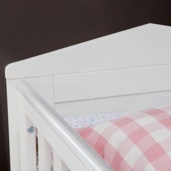 Biela detská postieľka Pinio Marseille,70×140cm