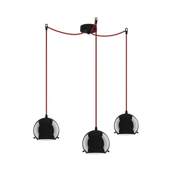 Trojité svetlo MYOO Elementary, black glossy/red/black