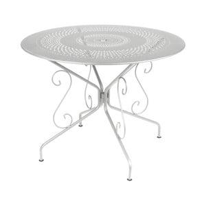 Svetlosivý kovový stôl Fermob Montmartre, Ø96cm