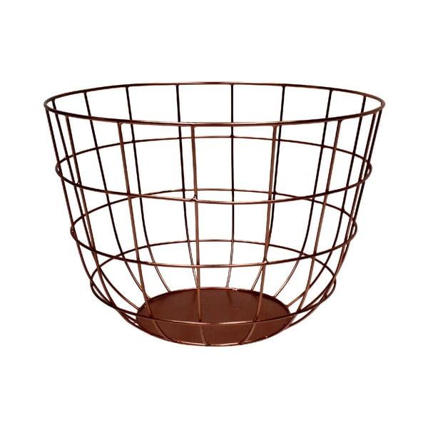 Kovový košík Netz Copper, 20 cm