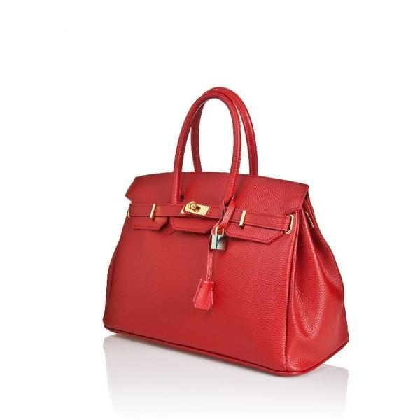 Kožená kabelka Bella Red