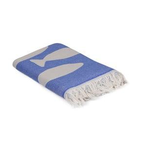 Modrý uterák Balik, 180 x 100 cm