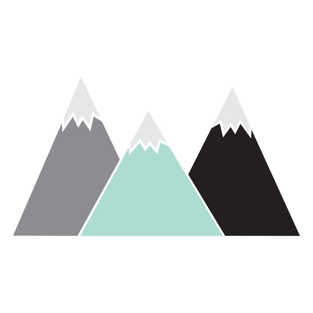 Nástenná samolepka Dekornik Pastel Mountains, 150 × 83 cm