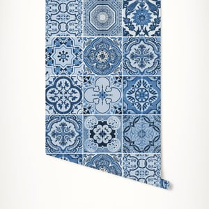 Modrá samolepiaca tapeta LineArtistica Audrey, 60×300cm