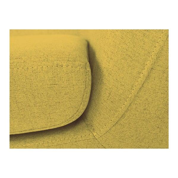 Žltá trojmiestna pohovka Mazzini Sofas Piemont