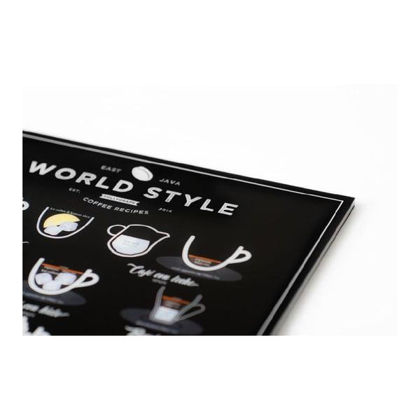 Plagát Follygraph World Style Coffee Black 50x70 cm