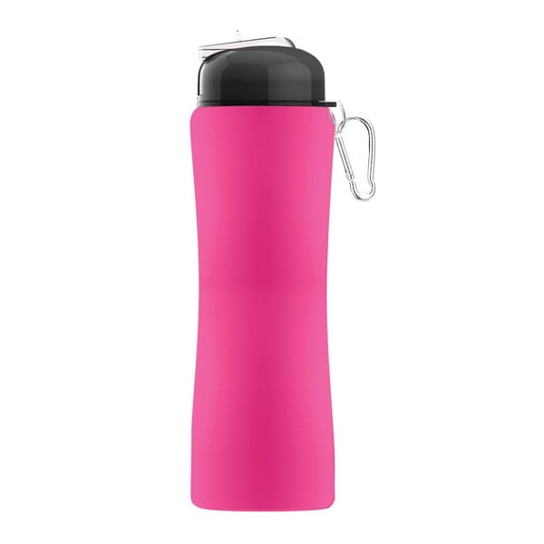 Športová fľaša Sili-Squeeze, ružová, 650 ml