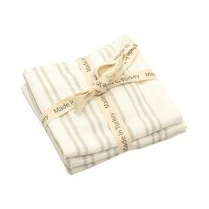 Sada 3 bielych bavlnených uterákov My Home Plus, 33×33 cm