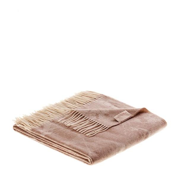 Vlnená prikrývka Danimarca 130x180 cm, béžová