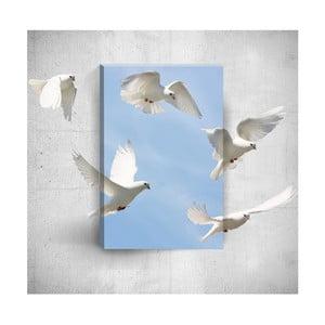 Nástenný 3D obraz Mosticx Doves, 40×60 cm