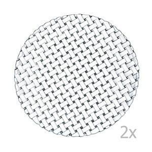 Sada 2 tanierov z krištáľového skla Nachtmann Bossa Nova, ⌀ 32 cm