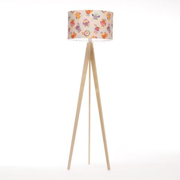 Pestrofarebná stojacia lampa Artist, breza, 150 cm