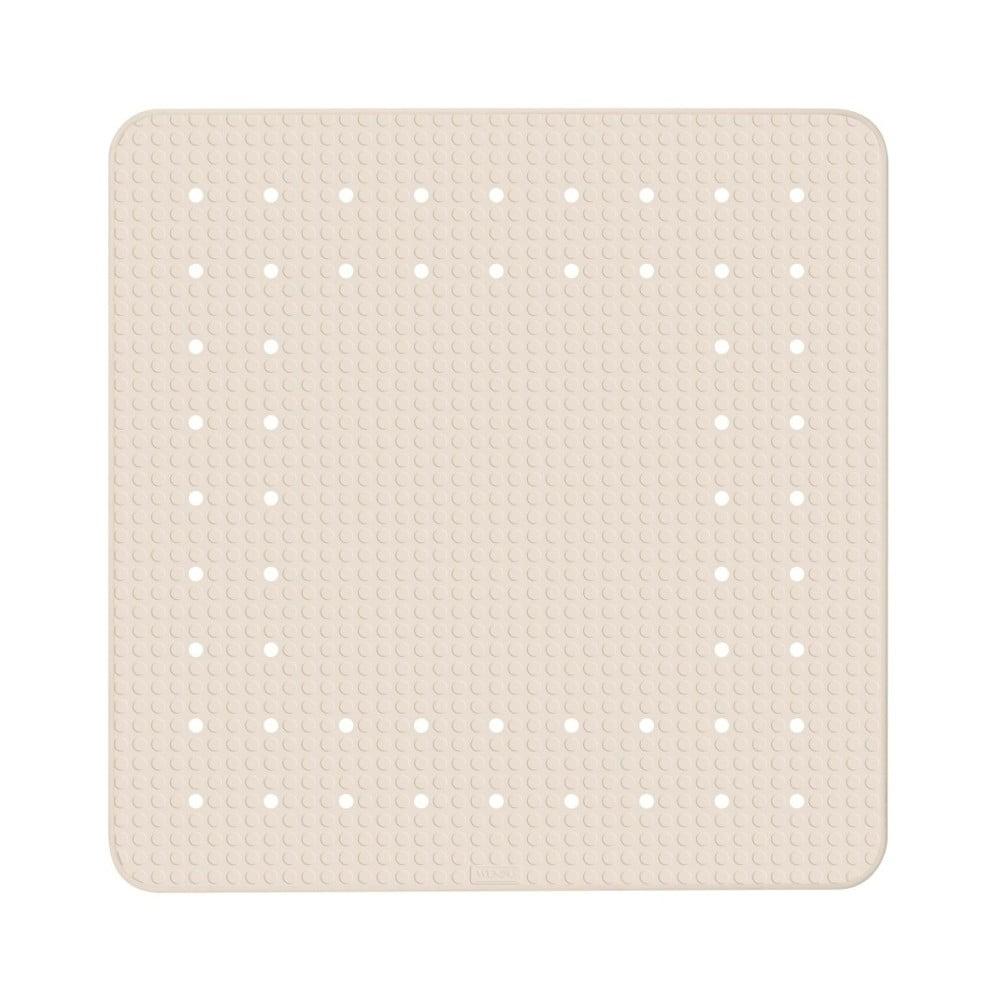 Béžová protišmyková kúpeľňová podložka Wenko Mirasol, 54 × 54 cm