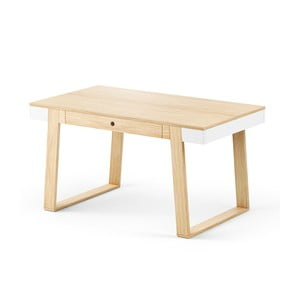 Stôl z dubového dreva s bielymi detailmi Absynth Magh, 140×80cm