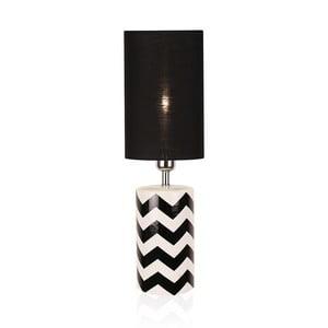Čierno-biela stolová lampa Globen Lighting Ramses