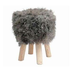 Stolička s tmavosivou kožušinou Sheepo