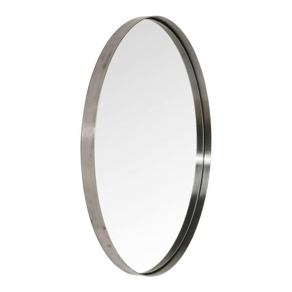 Okrúhle zrkadlo s čiernym rámom Kare Design Round Curve, ⌀100 cm