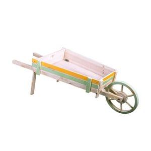Drevený dekoratívny vozík Dino Bianchi, dĺžka 97 cm
