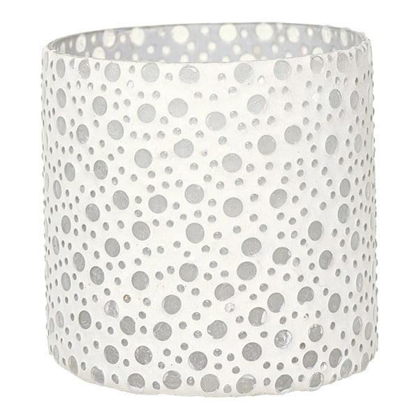 Svietnik Dots in White, 12,5 cm