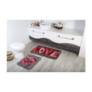 Sada 2 kúpeľnových predložiek Aksu Love