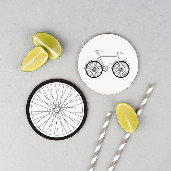 Set 4 podtácok Karin Åkesson Design Bicycle