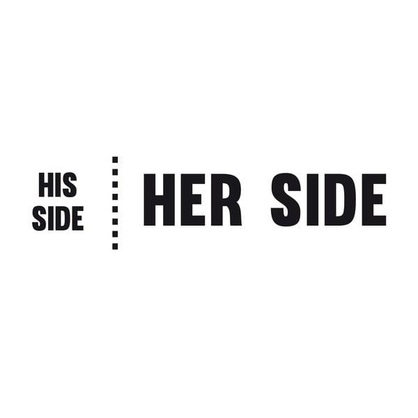 Samolepka na stenu His Side Her Side